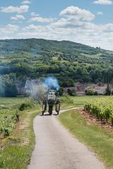 auto van de zaak (EdRocket) Tags: bourgogne frankrijk tent vakantie france wine wijn tractor druivenranken grapes