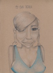 my own design (Klaas van den Burg) Tags: clolr pencil blue absurd surrealism humor funny
