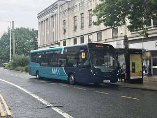 Arriva North East MAX streetlite 1594 seen here unusually operating Frequenta service 2