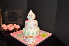 Tea Party Birthday Cake & Cupcakes 3 (rikkitikitavi) Tags: custom cake cupcake dessert raspberry lemonade lemon vanilla fondant teapot teacup flower girlsbirthday birthday teaparty caramel ricekrispietreats quilt quilted