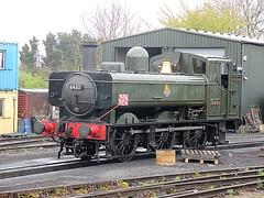 Pannier Tank Engine 6430 at North Weald depot, EOR Epping Ongar Railway 22.04.17 (Trevor Bruford) Tags: eor epping ongar heritage railway north weald train steam locomotive 060pt pannier tank engine br 6430 llangollen