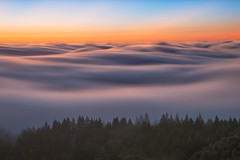 High Places (jojo (imagesofdream)) Tags: mounttam marincounty california fog mountain sunset landscape