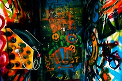 mystery door 2/3 (AlfieChallis) Tags: photo photography photograph photographs photographer streetphotography graffiti bristol canon 700d canon700d sigma sigmalens wideangle bristolcity city colour green red orange blue bright phone mystery door