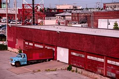 Red Warehouse (brev99) Tags: d610 tamron28300xrdiif tulsa dxofilmpack5 velvia nikviveza topazdetail red truck warehouse industry industrial photoshopelements12
