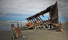 The Peter Iredale Shipwreck (Amy V. Miller) Tags: astoria oregon peter iredale shipwreck beach ocean rust sand