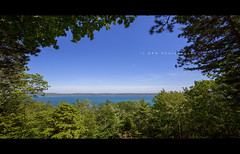 Glen Lake (riggsy23) Tags: glen lake panorama wide angle canon 1635mm water hiking trail alligator hill
