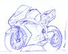 moto a lapicero (ivanutrera) Tags: moto motocicleta motorcycle draw dibujo drawing dibujoalapicero dibujoaboligrafo boligrafo sketch sketching lapicero pen ilustracion