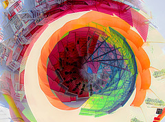 Vortex (beelzebub2011) Tags: canada britishcolumbia vancouver abstract intentionalcameramovement multipleexposure 15mmfisheye