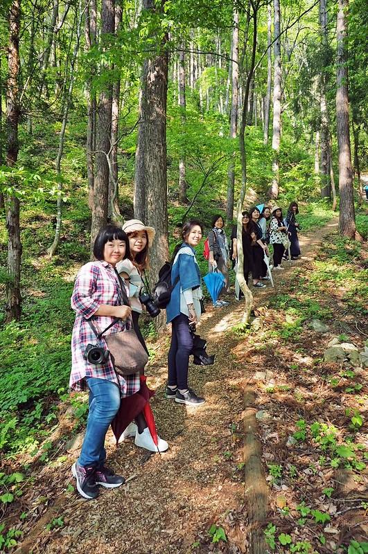 福島女子登山社再次挑戰45度陡坡(2)