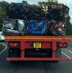 Crushed scrap cars (AndyNewark) Tags: crushedcarsonlorry scrap car cars crushed end recycle