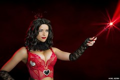 The All Powerful Queen.. (Ring of Fire Hot Sauce 1) Tags: cosplay queenofhearts meganrandom lingere wondercon brunette lace