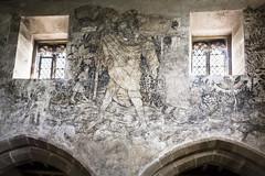 Haddon Hall (TheDavePhotoAlbum) Tags: haddon hall medieval tudor stately home bakewell derbyshire fresco church chapel saint christopher