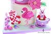 Alice in Wonderland (Little Cottage Cupcakes) Tags: littlecottagecupcakes aliceinwonderland cake aliceinwonderlandcake birthday alice madhatter rabbit flamingo momerath cardsoldier whiterabbit pocketwatch eatme childrenscake