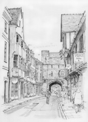 High Petergate and Bootham Bar, York