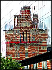Liverpool Reflection (ronramstew) Tags: reflection kaleidoscope facets colour window light liverpool mersey merseyside albionhouse whitestar line pierhead