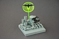 Micro Lego Batwing ([E]ddy) Tags: lego micro microlego microbuilding 2 parts batsignal batman grey batwing gotham superheroes bat 2parts industrial factory neongreen transparent mini small vignette microbatwing microbatsignal batsign
