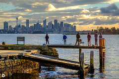 fishing (The Photo Smithy) Tags: harbourside hermitagebay hermitsbay nsw sydneyharbour dusk sunset vaucluse