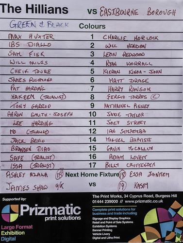 Burgess Hill Town 0 v Eastbourne Borough 0 13.07.2017