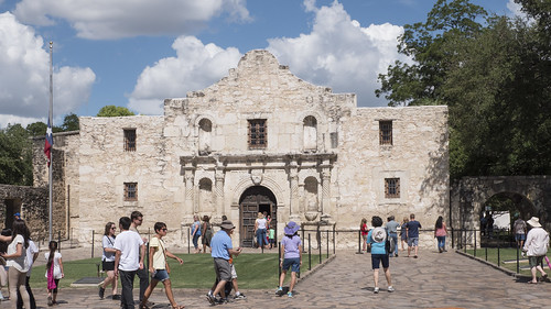 A Busy Day at The Alamo