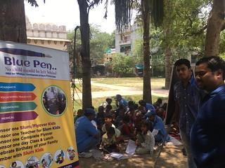 Team Blue Pen at Nizamuddin, Sunday, 11.6.17