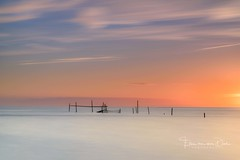 The fishing nets (Ellen van den Doel) Tags: lee zonsondergang stopper natuur netherlands sunset nets nature long exposure nederland outdoor nikon evening zee sea big sun summer beach ocean outside strand juni fishing d750 2017 clouds zon landschap wolken landscape rockanje zuidholland nl