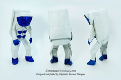 Alejandro Pascual Márquez - Astronaut (Alexori) Tags: origami papiroflexia astronauta astronaut papel paper alexori alejandro pascual márquez art arte drawing tome 2 diagram diagrama craft espacio space nasa olympiad ioio2015 blue azul spaceman galaxy galaxia
