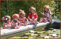 Kindergartenkinder ... (Kindergartenkinder) Tags: kind dolls himstedt annette frühling park blume garten kindergartenkinder essen grugapark personen sanrike blumen seerosen milina tivi annemoni jinka leleti