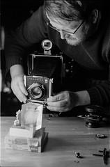 Portrait of a photographer (chitrmacher) Tags: minolta tuebingen tobi linhof studio 35mm blackandwhite
