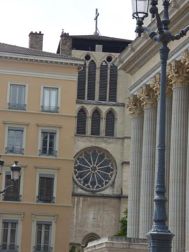 Palais de justice historique de Lyon - Quai Romain Rolland, Lyon - tower of Lyon Cathedral