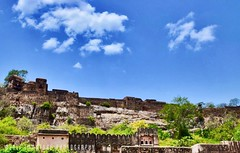 Lowangle View Of Ranthambhore Fort, India https://instagram.com/p/BVnLyTohfap/ (Immature Photography LLP) Tags: heritage building architecture lowangle clouds sky fort ranthambhore