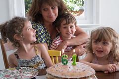 Birthday Selfie (jayneboo) Tags: 365 birthday me selfie grandchildren roni ben norah family love cake candles