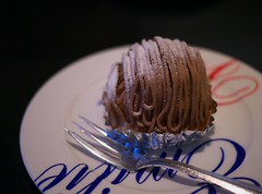 Mont Blanc (Long Sleeper (busy!)) Tags: sweets dessert food cafe emiliefloge cake montblanc fork plate tachikawa tokyo japan dmcgx1