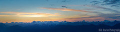Sunrise Over Mountains Panorama (Rick Deacon) Tags: canada orange panorama blue british clouds cold columbia dawn landscape morning mount mountain mountains outdoor seymour snow sun sunrise wispy