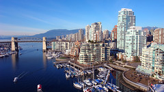 (Teamsters Canada) Tags: vancouver city canada world location travel sky sunny water blue buildings modern tall skyscraper mountains bridge boat bay harbor harbour olympics winter scenic landscape cityscape outdoor coast bc tourism waterway marina apartments lifestyle beautiful skyline australia