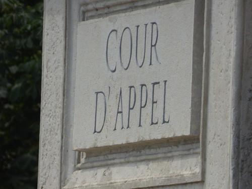 Palais de justice historique de Lyon - Quai Romain Rolland, Lyon - sign - Cour D' Appel