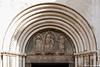 Detall de la porta de la Catedral de Sant Donat (Zadar)