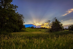 Warm Sunset Over the Countryside (Roy Manchester) Tags: blue canon canonllenses 5dsr availablelight clouds colors 247028l llenses landscape light leaves grass hudsonvalley hoyacpl manfrotto sky sunset sun catskillnewyork upstatenewyork