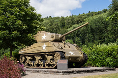 Sherman Tank at Clervaux Castle, Luxembourg (romanboed) Tags: leica m 240 summilux 50 sherman m4a3 tank us army usa combat vehicle armored division battalion battle bulge clervaux luxembourg world war ii wwii europe travel history summer sunny