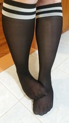 Nylon Kneehighs (mistresssocks) Tags: socks blacksocks kneehigh feet foot seethrough toes sole footfetish sexysocks daily nylon