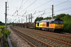 60026 6J37 Winwick (cmc_1987) Tags: 60026 6j37 colas colasrailfreight logs carlisle chirk timber winwick cheshire cheshirerail wcml class60 tug doughnut br britishrail