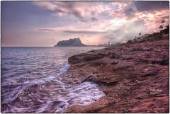 (424/17) Detrás de la tormenta ... (Pablo Arias) Tags: pabloarias photoshop photomatix nxd españa cielo nubes sedas olas agua mar mediterráneo cala ifachcalpe alicante lesbassetes comunidadvalenciana