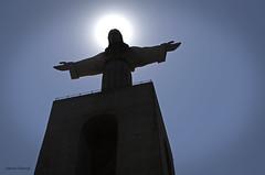 Cristo Rei (Valeriia Diduryk) Tags: cristo rei portugal almada statue nikon d5100 sky silhouette