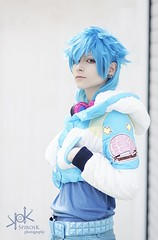 "Highness Cosplay as Aoba Seragaki - from Dramatical Murders - by SpirosK photography: the ""white"" portraits (SpirosK photography) Tags: highnesscosplay aobaseragaki dramaticalmurder spiroskphotography white portrait crossplay rule63"