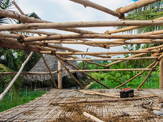 IMG_47745 (Manveer Jarosz) Tags: auroville bharat hindustan india solitudefarm southindia tamilnadu wwoof worldwideopportunitiesonorganicfarms building construction farm frame hut rural solitude village work