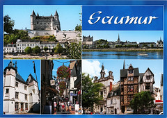postcard - Saumur, France 1 (Jassy-50) Tags: postcard chateaudesaumur chateau castle saumur france loirevalley loireriver unescoworldheritagesite unescoworldheritage unesco worldheritagesite worldheritage whs multiview