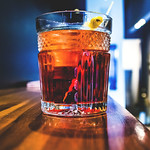 Cocktail Negroni, Italian aperitivo, aperitif with gin, vermout and bitter Campari thumbnail