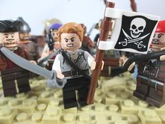 A foot In The Door (Jacob Nion) Tags: lego pirates moc vignette island bobs eurobricks captainmorgan palmtree beach