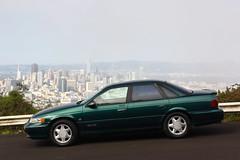 1994 Ford Taurus SHO (Jason Wollenweber) Tags: 1994 ford taurus sho sedan car vehicle san francisco twin peaks skyline