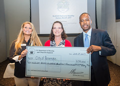 OLHCHH National Healthy Homes Month Event (U.S. Dept. of Housing and Urban Development (HUD)) Tags: awards bma ben carson miller nationalhealthyhomesmonth olhchh people sohud secretary checks