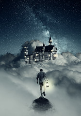 254/365 (lukerenoe) Tags: conceptual composite 365 edit explore adventure art lukerenoe light landscape mood mystery magical photoshop clouds sky night stars